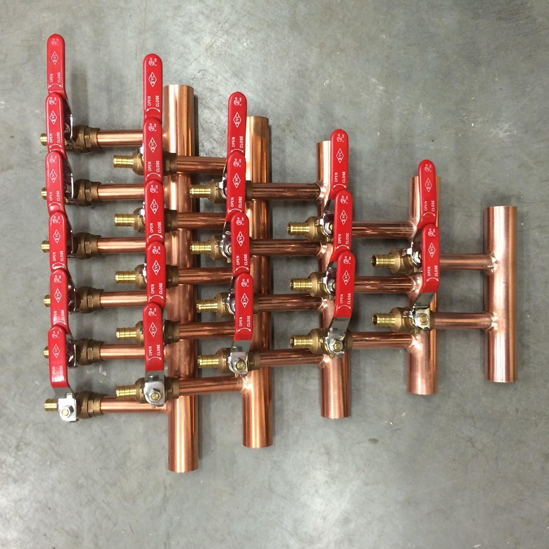 Radiant Heat Manifolds Triple H Hydronics Inc