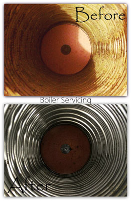 Boiler cleaner - Before and after
